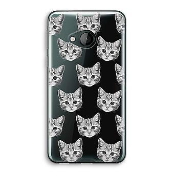 HTC U Play transparant Case (Soft) - Kitten