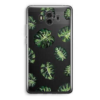 Huawei Mate 10 caso transparente (Soft) - folhas tropicais