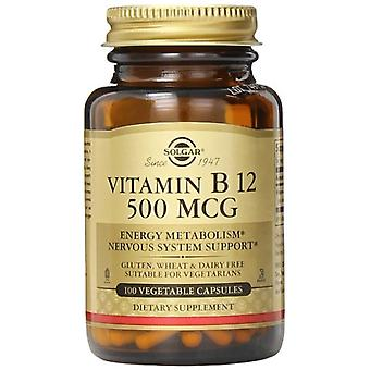 Solgar Vitamin B12 500 mcg Vegetable Capsules 100 Ct
