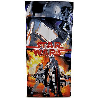 New Boys Star Wars Official Licensed 100% Cotton Printed Beach Bath Towel