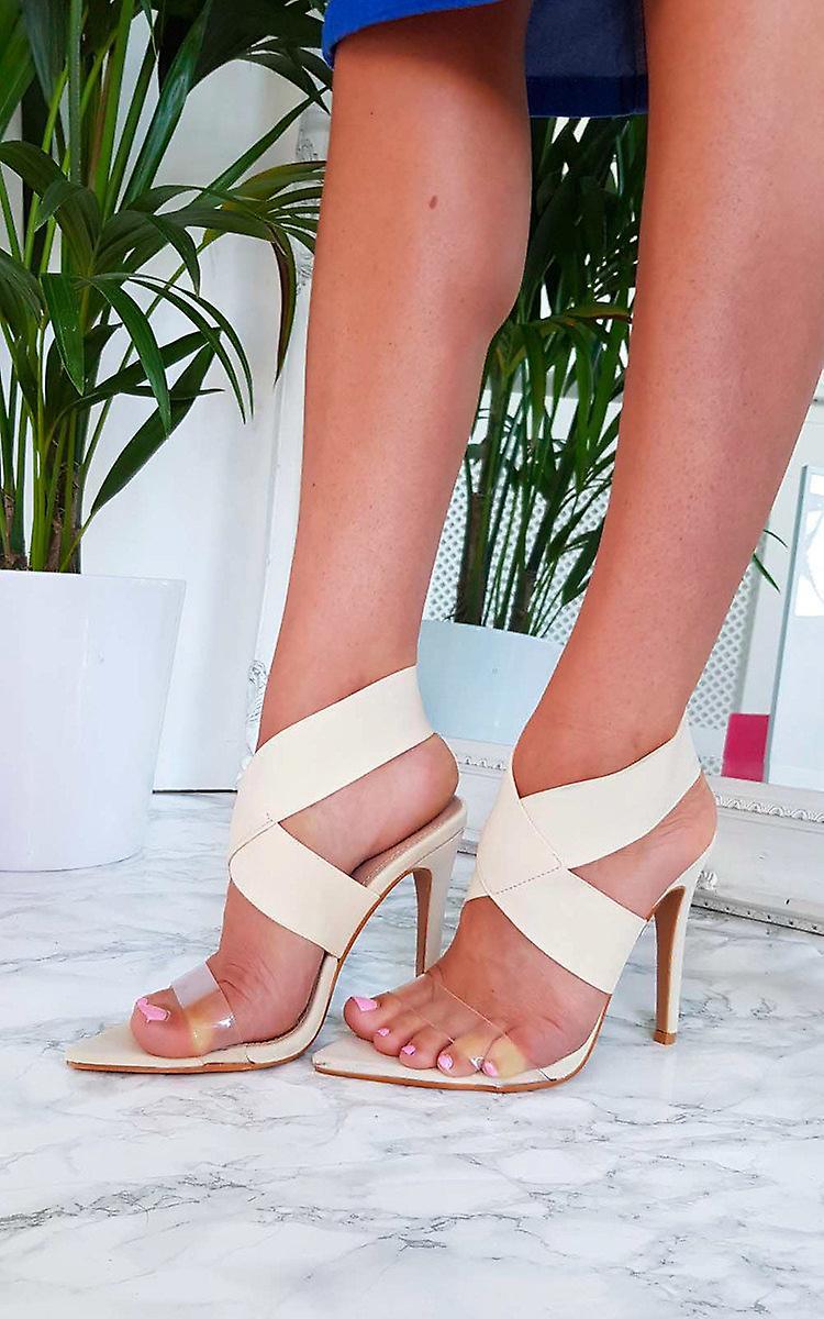 IKRUSH Womens Kelsey Stretch Strap Slip On Heel
