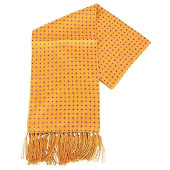 Knightsbridge Neckwear Diamond Aviator Silk Scarf - Orange