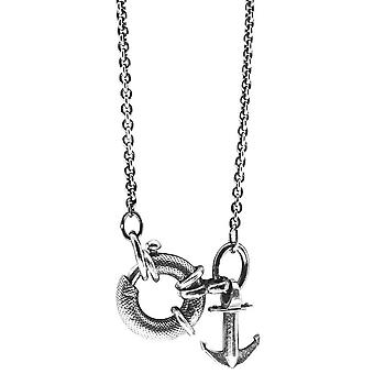 Anchor and Crew Clyde Anchor Pendant - Silver