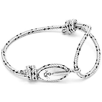 Anchor and Crew London Silver and Rope Bracelet - Grey Dash