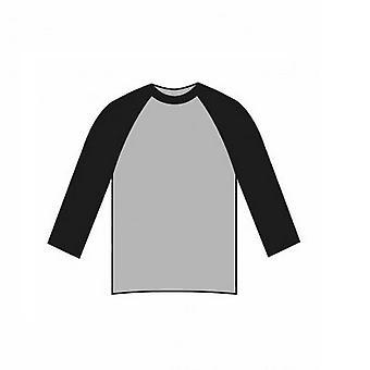 American Apparel Unisex 3/4 ujj kontraszt baseball póló
