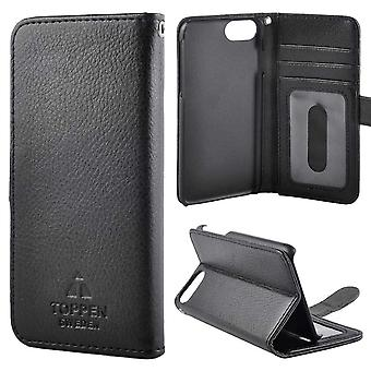 TOP Left-Handed Wallet Case iPhone 6/7/8/SE 2020 Black