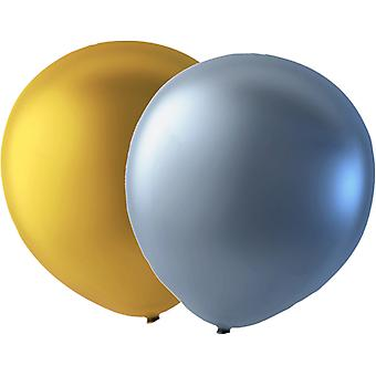 Balloons 24-pack mix Gold and silver