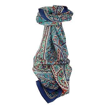 Maulbeere traditionellen langen Seidenschal Riya Blue von Pashmina & Seide