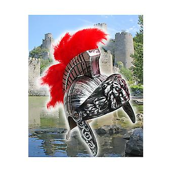 Hats  Knight helmet with red feathers