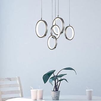 Ceiling Light Pendant Lamp Dining Table Modern Nickel 5 Pendant  Round Canopy Lights