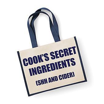 Velké jutové pytle Cook ' s tajné složky (Ššš a jablečný mošt) modrý sáček námořnictva