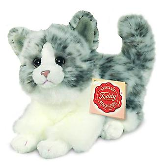 Hermann Teddy cat grey 18 cm