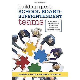 Building Great School Board� -- Superintendent Teams: A� Systematic Approach to Balancing Roles and Responsibilities