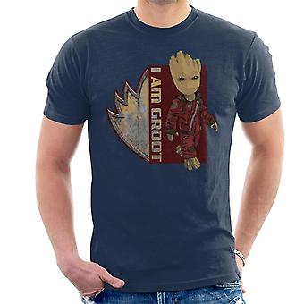 Marvel Guardians Of The Galaxy I Am Ravagers Baby Groot Men's T-Shirt