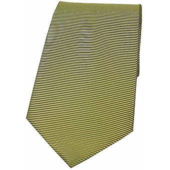David Van Hagen Horizontal Ribbed Polyester Tie - Moss Green
