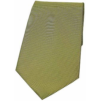 David Van Hagen horizontale côtelée cravate Polyester - vert mousse