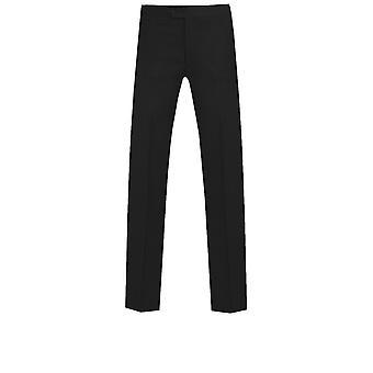多贝尔男人黑色 Tuxedo 裤子 瘦 适合 坐面侧条纹
