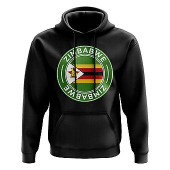 Zimbabwe voetbal Badge Hoodie (zwart)