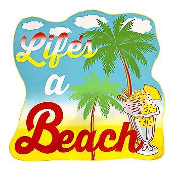 Alfresco Shaped Beach Towel, Life's a Beach