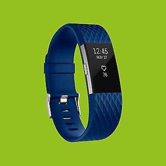 For Fitbit batch 2 plastic / silicone bracelet for men / size L Blue Watch