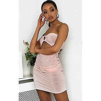 IKRUSH Womens Nicci Bandeau rebolante Mini vestido