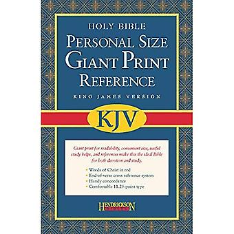 KJV Personal Size Giant Print Reference Bible: King James Version, Burgundy Bonded Leather