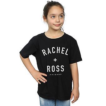 Amigos chicas Rachel y Ross camiseta de texto
