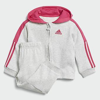 Adidas spädbarn logotyp Hooded Fleece Full Zip träningsoverall Set - DJ1588