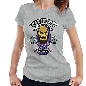 Masters Of The Universe Skeletor Skull And Cross Staves Women's T-Shirt