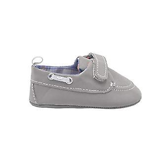 Revo Infant Boy Crib Shoe Infant Boat Shoe With Plaid Liner