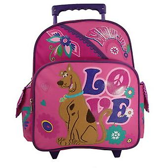 Small Rolling Backpack - Scooby Doo - Pink Peace & Love New Bag 389482