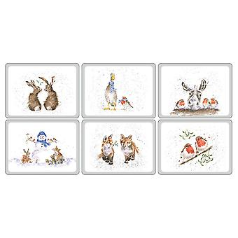 Pimpernel Wrendale Christmas Placemats Set of 6