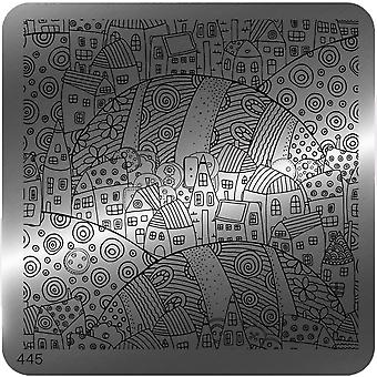 MoYou Square Stamping Nail Art Image Plate - 445