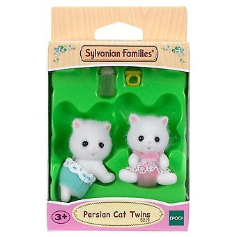 Sylvanian Familias gato persa gemelos muñeca
