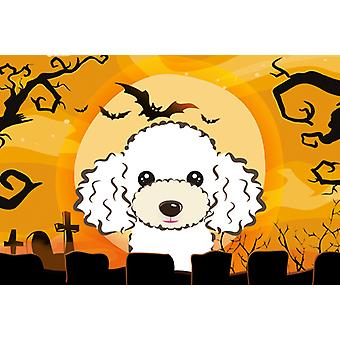 Carolines Treasures  BB1815PLMT Halloween White Poodle Fabric Placemat