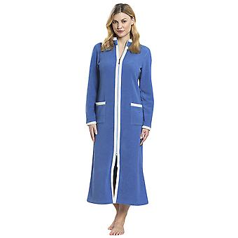 Féraud 3883170-11998 Women's Smokey Blue Robe Loungewear Bath Dressing Gown