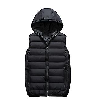 Allthemen Men's Imbottito Vest con cappuccio in autunno e inverno caldo Waistcoat