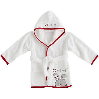 Naf Naf Bathrobe 100% Cotton Red Rabbit (Textile , Child's , Swimwear)