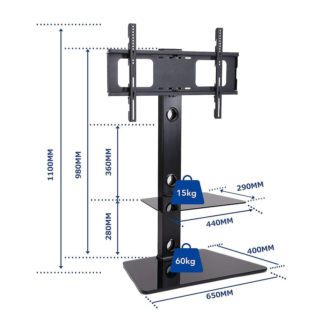Fleximounts TS01 Universal TV Stand  for 32-65 inch LCD LED TVs