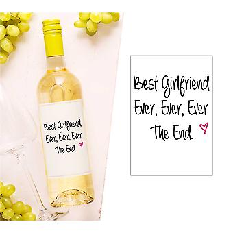 Best Girlfriend Ever Wine Bottle Label