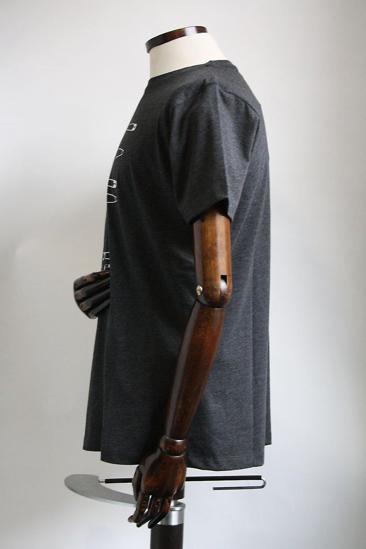 Merc London Woolwich Grey Safety Pin Print Cotton T-Shirt