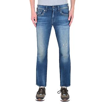 True Religion Ricky Flap Relaxed Straight Fit Blue Wash Denim Jeans