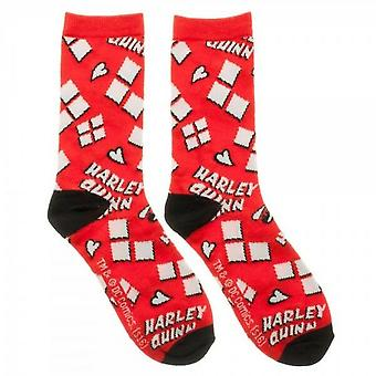 Harley Quinn Diamonds and Logo Women's Socks