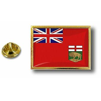 pins pin badge pin's metal  avec pince papillon drapeau canada manitoba