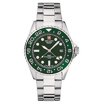 Zwitserse Alpine militaire mannen horloge analoge Quartz 7052.1134 SAM roestvrijstaal