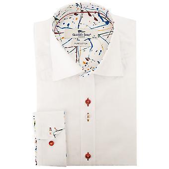 كلاوديو لوجلي جاكار نمط الأزهار رجالي قميص