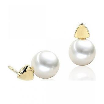 Luna-Pearls Pearl StudS Freshwater Pearls 7-7.5 mm 585 Yellow Gold 3001259
