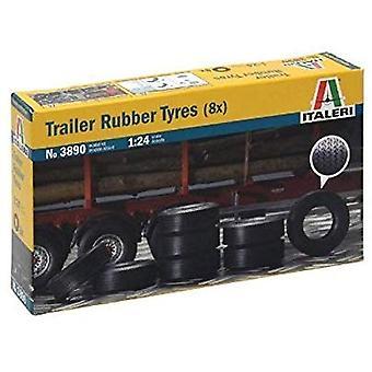 Italeri 3890 Trailer Rubber Tyres 8pcs 1:24 For Model Kits
