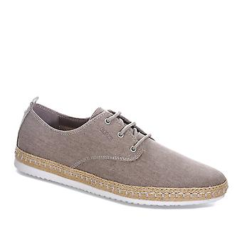 Mens Geox Copacabana Canvas Shoes In Sand