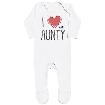 J'aime ma tante Red Heart Bébé Romper